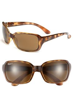 Ray-Ban 'Big Glamour' 60mm Polarized Sunglasses available at #Nordstrom