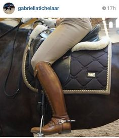 Love this boot-saddle pad combo