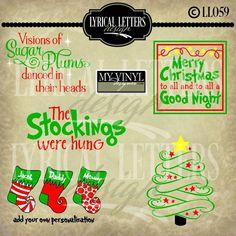 DIGITAL DOWNLOAD ... Christmas vectors in AI, EPS, GSD, & SVG formats @ My Vinyl Designer #myvinyldesigner #lyricallettersdesign