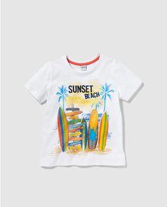 Camiseta de niño Freestyle blanca con print