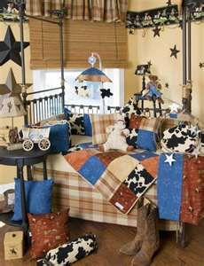 western style baby's room