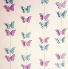 Butterfly Garland Sorbet by thisneckofthewoods on EtsyThis item is unavailable Butterfly Birthday Party, Butterfly Baby Shower, Butterfly Theme Room, Butterfly Mobile, Origami Butterfly, Baby Shower Backdrop, Baby Shower Themes, Shower Baby, Baby Showers