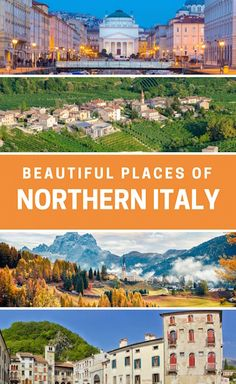 Learn about the most beautiful small towns of Northern Italy. From the Prosecco Hills of the countryside to the Dolomites, hiking through the scenic mountaiins, emerald lakes and green landscapes. #northern #italy #traveltips
