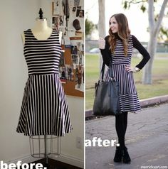 Here's a way to lengthen (or restyle) a skirt or dress