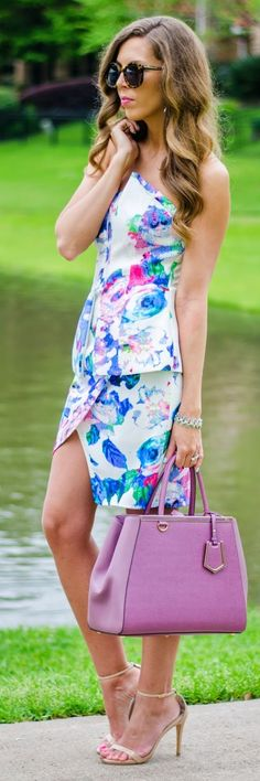 Floral Twin-set Outfit Idea by For The Love Of Fancy
