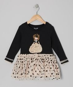 Loving this Black Glamorous Gal Dress - Toddler on #zulily! #zulilyfinds