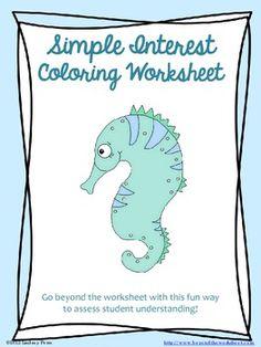 math worksheet : new balance worksheets and student on pinterest : Simple Interest Math Worksheets