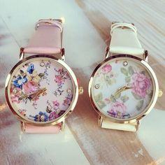 Relojes Mujer 2014 Faux Leather Strap Multi Color Polka Dot Print Flower Printed Dial Geneva Watch Ladies Dress Watch-in Women's Wristwatches from Watches on Aliexpress.com | Alibaba Group