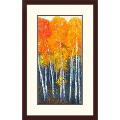 "Global Gallery 'Autunno I' by Angelo Masera Framed Graphic Art Size: 32"" H x 20"" W x 1.5"" D"