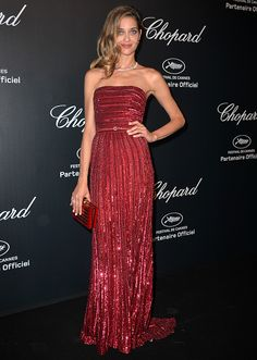 Ana Beatriz Barros in Elie Saab Couture at the Chopard Gold party (2015)