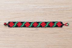 Mexican Huichol Beaded Bracelet by Peiote on Etsy