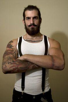 Old school looking tattooed guy. #tattoo #tattoos #ink #inked