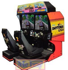 Máquina de Game e Fliperama Daytona a Usa Linkada/Dupla - COD.MQ0046 - Venda Locação Peças Acessórios para Game Fliperama Arcade Pinball Brinquedos Para Buffet Brinquedos para Playground,Máquina de Fliperama,Controle Arcade