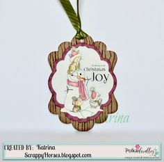 Polkadoodles Winnie White Christmas, Tags, watercolor pencil, #pdcraft #pdoodlescraft