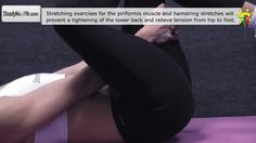 Sciatica pain caused by the piriformis muscle: supine piriformis stretch...
