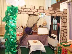 Roleplay corner - Traditional & Fairy Tales: Jack and the Beanstalk Nursery Rhymes Preschool, Nursery Rhyme Theme, Traditional Fairy Tales, Traditional Stories, Fairy Tale Crafts, Fairy Tale Theme, Fairy Tale Activities, Fairy Tales Unit, Play Corner