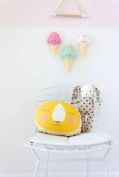 Complementos con Forma de Helado para la Habitación del Bebé