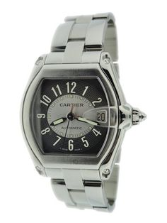 Stainless Steel Gent`s Cartier Roadster Automatic Watch from Baer & Bosch Auctioneers.