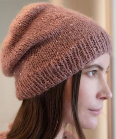 Free Knitting Pattern for Easy Brilla Beanie - Perfect for Beginners! : Free Knitting Pattern for Easy Brilla Beanie – Perfect for Beginners! Baby Knitting Patterns, Red Heart Yarn Patterns, Sewing Patterns, Christmas Knitting Patterns, Crochet Christmas, Loom Patterns, Crochet Patterns, Easy Knitting, Loom Knitting