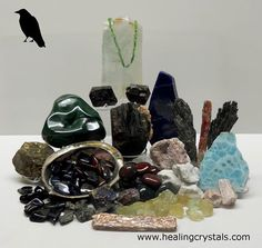 Larimar and Crow Animal Totem - Daily Crystal Nugget - Information About Crystals As A Healing Tool Wiccan, Magick, Pagan, Witchcraft, Native American Images, Native American Wisdom, Animal Spirit Guides, Spirit Animal, Healing Stones