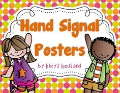 These bright and colorful hand signal posters will be a wonderful addition to your classroom management routine. Your students will learn to use their hand signals instead of calling out across the room. Who couldn't use a little peace and quiet?!  *I have updated this product to include both a BLACK background and now a WHITE background! :)  I truly hope that you can use this freebie in your classroom!