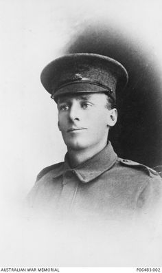 6322 Private (Pte) George Eric Fulcher, 25 Battalion, of Maryborough, Qld. Formerly a farmer, Pte Fulcher enlisted on 18 October 1916 and as a member of the 18th Reinforcements, he embarked from Sydney aboard HMAT Demosthenes (A64) on 23 December 1916. He served on the Western Front in Belgium and died of wounds he received at Polygon Wood on 20 September 1917, aged 26. (AWM)