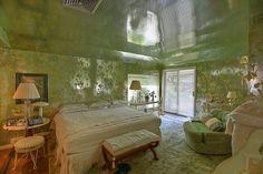 Shiny ceiling! Fantastic 1960 time capsule house featured on RetroRenovation.com