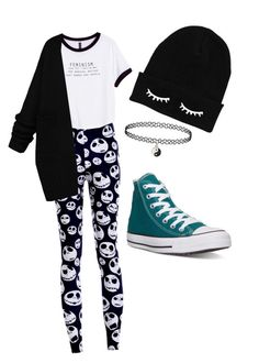 """""""Untitled #7"""" by molu-1 on Polyvore featuring H&M, Converse, women's clothing, women's fashion, women, female, woman, misses and juniors"""