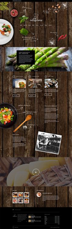 Slow to load, but I love the organic shapes and general aesthetic of this theme http://themeforest.net/item/california-restaurant-hotel-bar-wordpress-theme/6106949