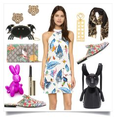 """""""Fashion Inspired By Insects & Animals..**"""" by yagna ❤ liked on Polyvore featuring House of Holland, Gucci, Kendall + Kylie, Trish McEvoy, Thom Browne, Sophie Hulme and Kenzo"""