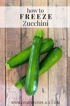 How to Freeze Zucchini | An Easy How-To by On Sutton Place #spon