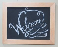 Wood Framed Chalkboard by CiracoandSon on Etsy