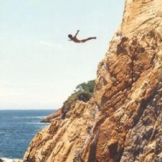 Diving off the Acapulco cliffs. Cool