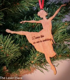 Ballet dancer Laser Cut Ornament by TheLaserPlace on Etsy