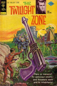 Cover for The Twilight Zone (Western, 1962 series) [Gold Key] Pub Vintage, Vintage Horror, Old Comics, Vintage Comics, Gi Joe, Caricature, Comic Book Covers, Comic Books, Comic Art