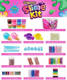 LOOKING FOR THE PERFECT BIRTHDAY/CHRISTMAS GIFT? Sago Brothers slime kit is the one! This DIY slime making kit will never fall short of your expectations, give it as birthday or Christmas gift for girls and boys, with the tons of slime add ins and beautiful giftable package, kids will be thrilled and won't be able to put it down! Slime Craft, Diy Slime, Color Activities Kindergarten, Slime Kit, Slime For Kids, Ice Cream Candy, Stress Relief Toys, Christmas Gifts For Girls, Kits For Kids