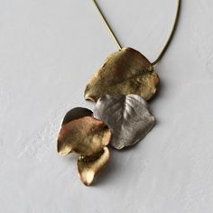 Pear Leaves Drop Necklace