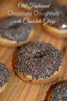 If you like chocolate, you'e going to love these old fashioned baked chocolate doughnuts with chocolate glaze. They couldn't be an simpler to make.