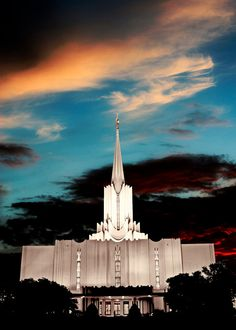 The Jordan Temple - Sunset, LDS, Mormon ... This temple has the largest angel Moroni statue in the world! 20 feet!