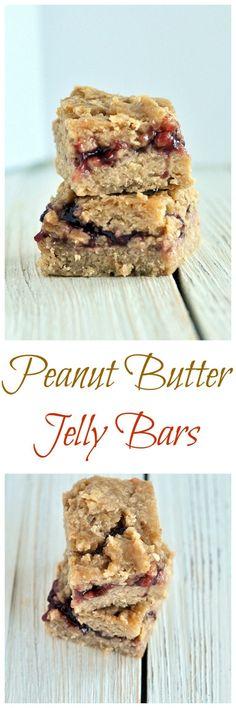 Peanut Butter Jelly Bars (Vegan, Gluten Free) - My Whole Food Life Best Gluten Free Recipes, Vegan Gluten Free, Whole Food Recipes, Dairy Free, Vegan Recipes, Vegan Blogs, Yummy Recipes, Vegan Desserts, Dessert Recipes