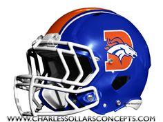 #Denver #Broncos Royal Blue Helmet Concepts #NFL #Football
