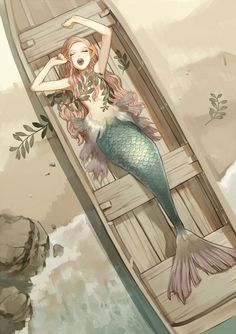Ideas For Drawing Mermaid Anime Art Disney, Disney Kunst, Anime Kunst, Anime Art, Fantasy Kunst, Fantasy Art, Character Inspiration, Character Art, Character Sketches