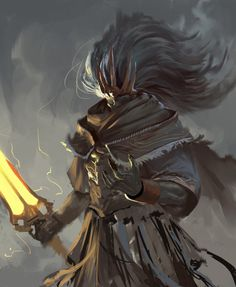 Dark Souls Illustration - the nameless king by Josh Corpuz