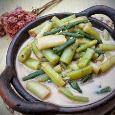 resep sayur lodeh instagram Indonesian Food Traditional, Fried Banana Recipes, Malay Food, Fried Bananas, Meal Prep Plans, Food Dishes, Asian Recipes, Green Beans, Food And Drink