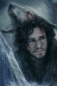 Jon Snow And His Wolf - Jon Snow Ve Onun Kurdu