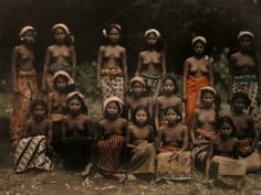 Balinese Women Pose for a National Geographic Photographer Photographic Print by Franklin Price Knott at Art.com