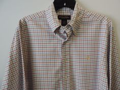 Brooks Brothers Mens White Gingham Plaid Golden Fleece Shirt SZ M Mint Fast Ship #BrooksBrothers #ButtonFront