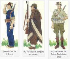 Guerra civil española: uniformes del bando Republicano Army Uniform, Spanish, Empire, Internet, Military, War, Culture, Projects, Pictures