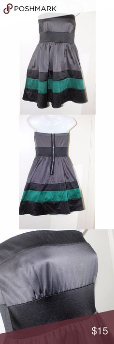 Grey Black and Green Strapeless Dress This multi-color dress is good for a formal or semi-formal night. Love Culture Dresses