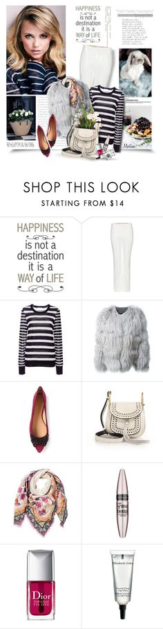 """""""Happiness Is Not A Destination It Is A Way Of Life"""" by thewondersoffashion ❤ liked on Polyvore featuring Brewster Home Fashions, Chloé, Equipment, Tory Burch, Etro, Maybelline, Christian Dior, Elizabeth Arden, ToryBurch and chloe"""